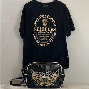 Mens Messenger Bag T-shirt XL Irish Guinness Beer